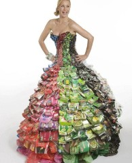 recycled food wrappers