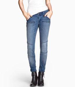 H&M moto jeans