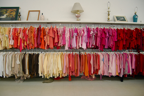 Color Grouped Closet